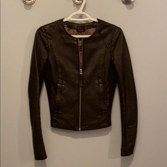 Black leather  mackage jacket !